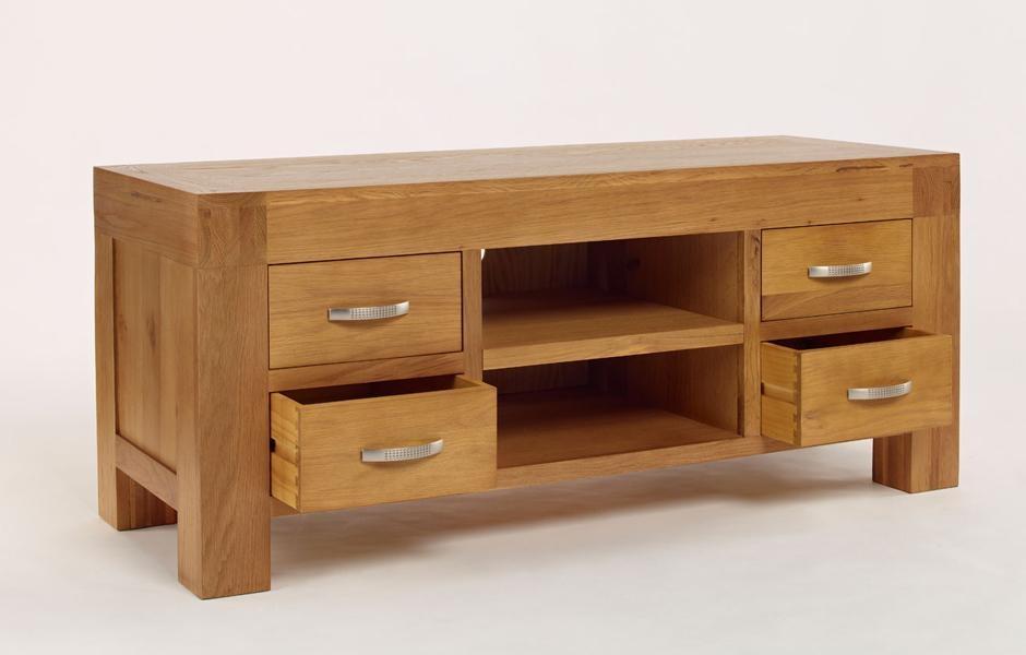 Oak Tv Unit With Drawers – Light Santana Oak Regarding Best And Newest Santana Oak Tv Furniture (Image 15 of 20)
