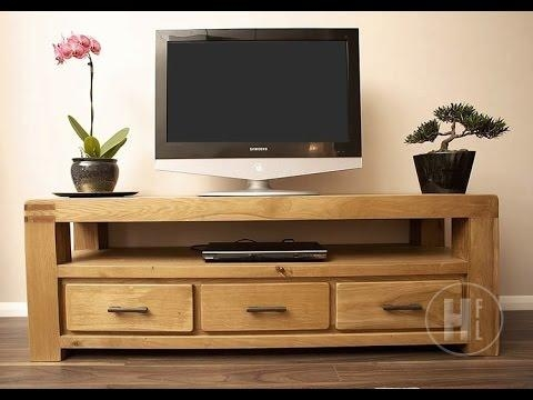 Oak Tv Units And Media Cabinets – Youtube With Most Current Oak Tv Cabinets (Image 14 of 20)