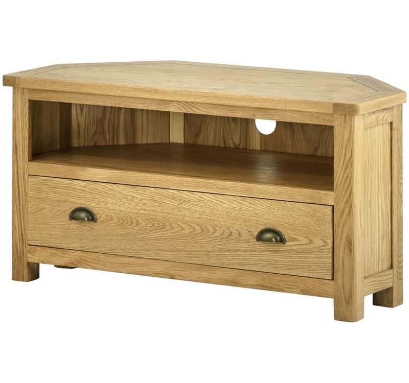 Oak Tv Units | Media Cabinet | Dvd Storage | Audio Furniture Devon Intended For Most Up To Date Small Oak Tv Cabinets (Image 14 of 20)