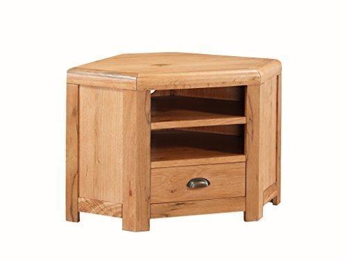 Oakville Solid Oak Corner Tv Unit – Solid Oak Plasma Corner Tv Pertaining To Most Popular Solid Oak Corner Tv Cabinets (Image 12 of 20)