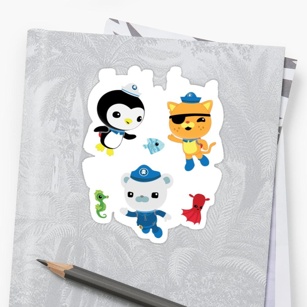 "Octonauts, To Your Stations!"" Stickersfairfaxx 