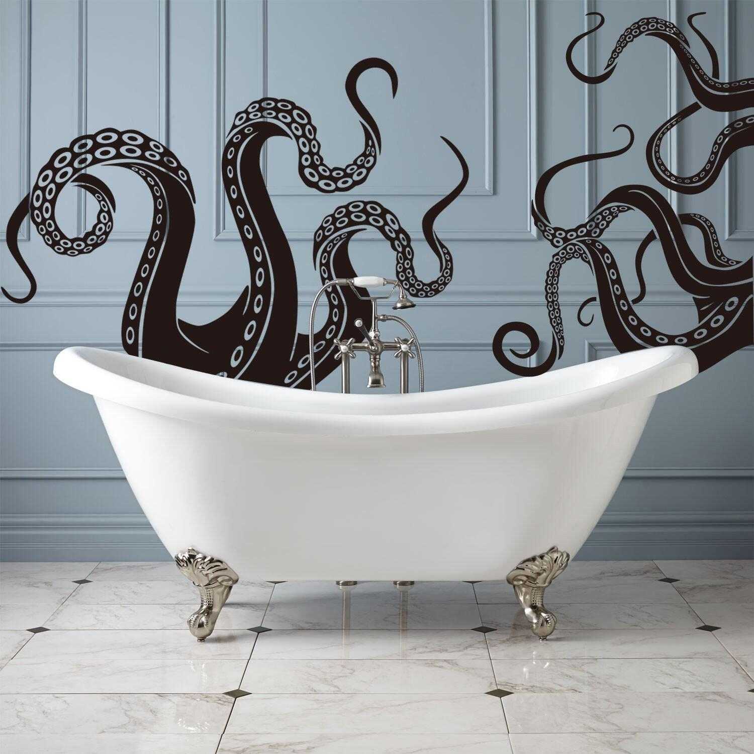 Octopus Tentacles Vinyl Wall Decal Sea Monster Sticker Kraken Pertaining To Octopus Tentacle Wall Art (Image 14 of 20)