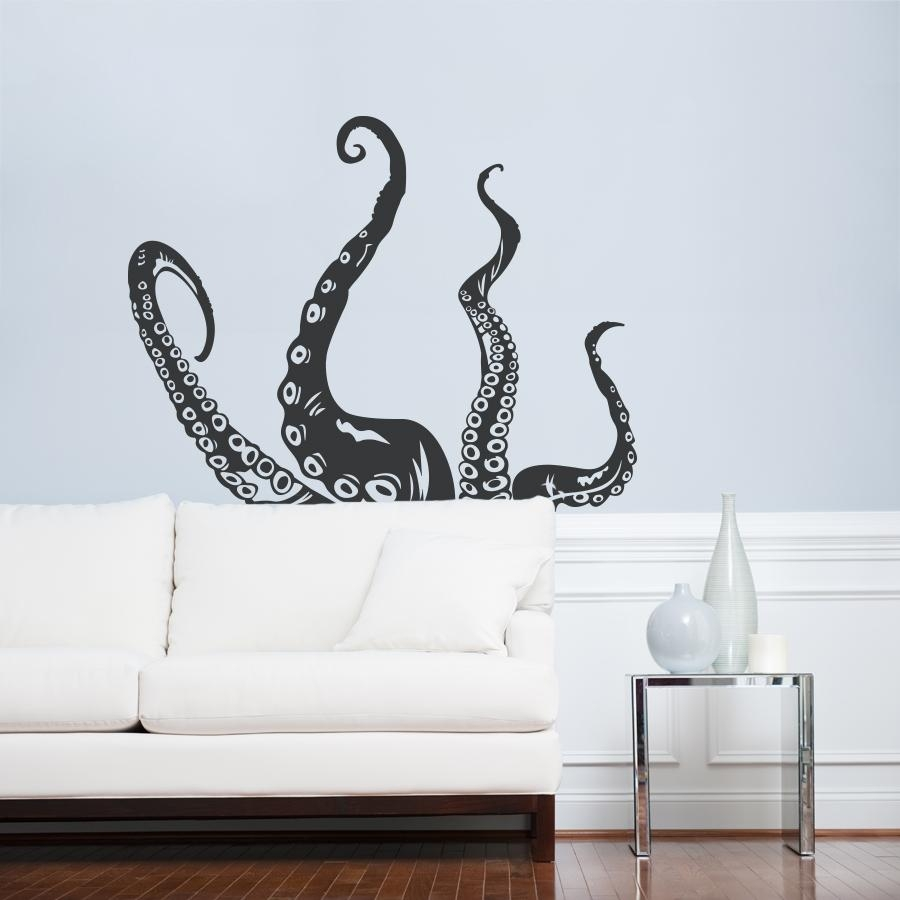 Octopus Tentacles Wall Art Decal Throughout Wall Cling Art (Image 17 of 20)