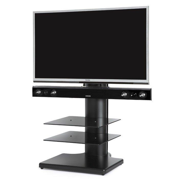 Off The Wall Origin S2 Cantilever Tv Stand In Black For Tv's Up To With Regard To Recent Cantilever Tv Stands (Image 11 of 20)