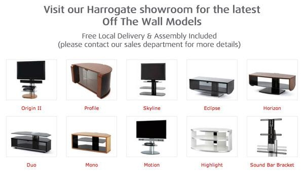 Off The Wall Tv Stands & Tv Bases At Smiths The Rink Harrogate With Most Recently Released Off Wall Tv Stands (View 2 of 20)