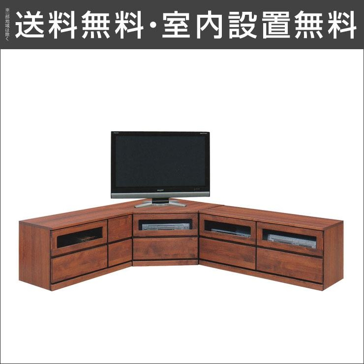 Okawakagukoubou | Rakuten Global Market: Installation Free 3 Year Intended For Recent Dark Brown Corner Tv Stands (Image 13 of 20)