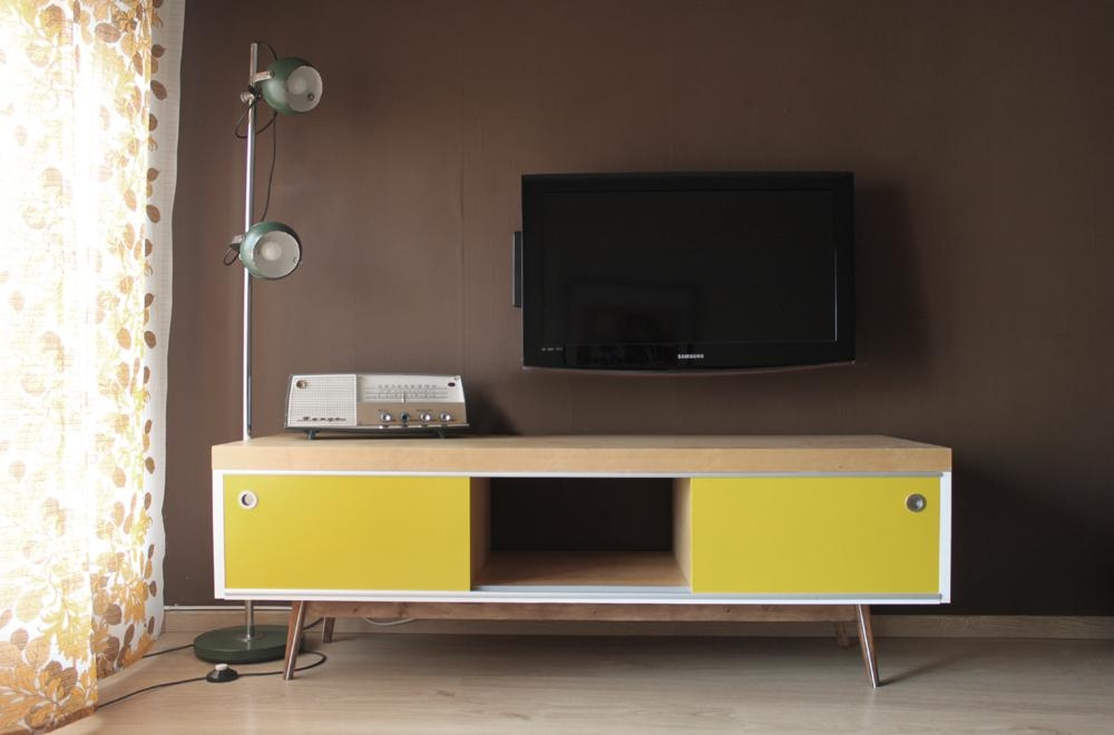 Old Ikea Lack Tv Furniture Hacked Into Vintage Style – Ikea Hackers Within Most Up To Date Vintage Style Tv Cabinets (Image 13 of 20)