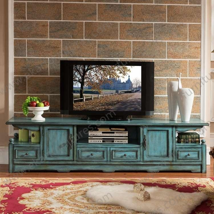 Old Style Vintage Long Seafoam Green Tv Stand M 1040 Pertaining To Most Recent Green Tv Stands (View 4 of 20)