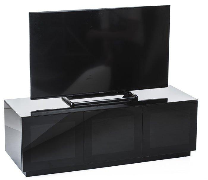 Olsen Chic140 High Gloss Black 1400Mm Tv Cabinet Pertaining To Latest Black Gloss Tv Cabinet (Image 10 of 20)