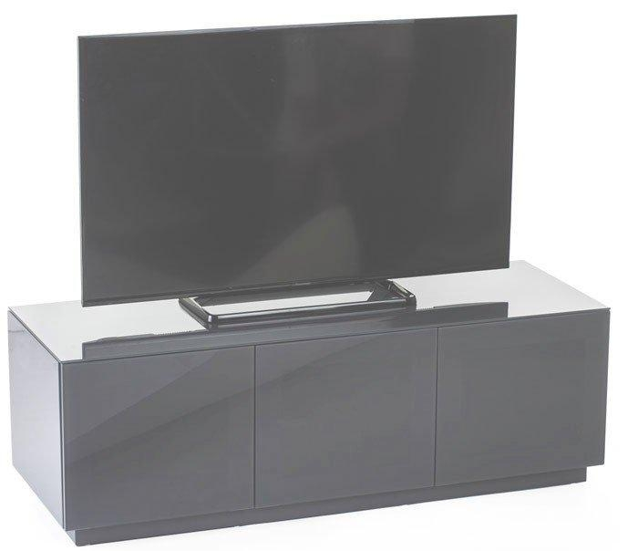 Olsen Chic140 High Gloss Grey 1400Mm Tv Cabinet Regarding Most Up To Date Grey Tv Stands (Image 19 of 20)
