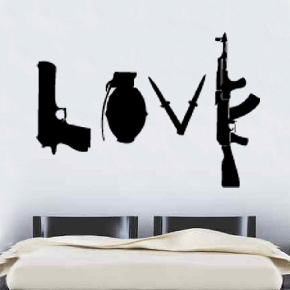 Online Get Cheap Banksy Love Decal  Aliexpress | Alibaba Group Inside Street Wall Art Decals (Image 10 of 20)