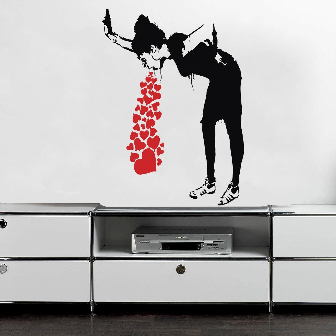 Online Get Cheap Banksy Wall Decal Sticker  Aliexpress Intended For Street Wall Art Decals (Image 11 of 20)