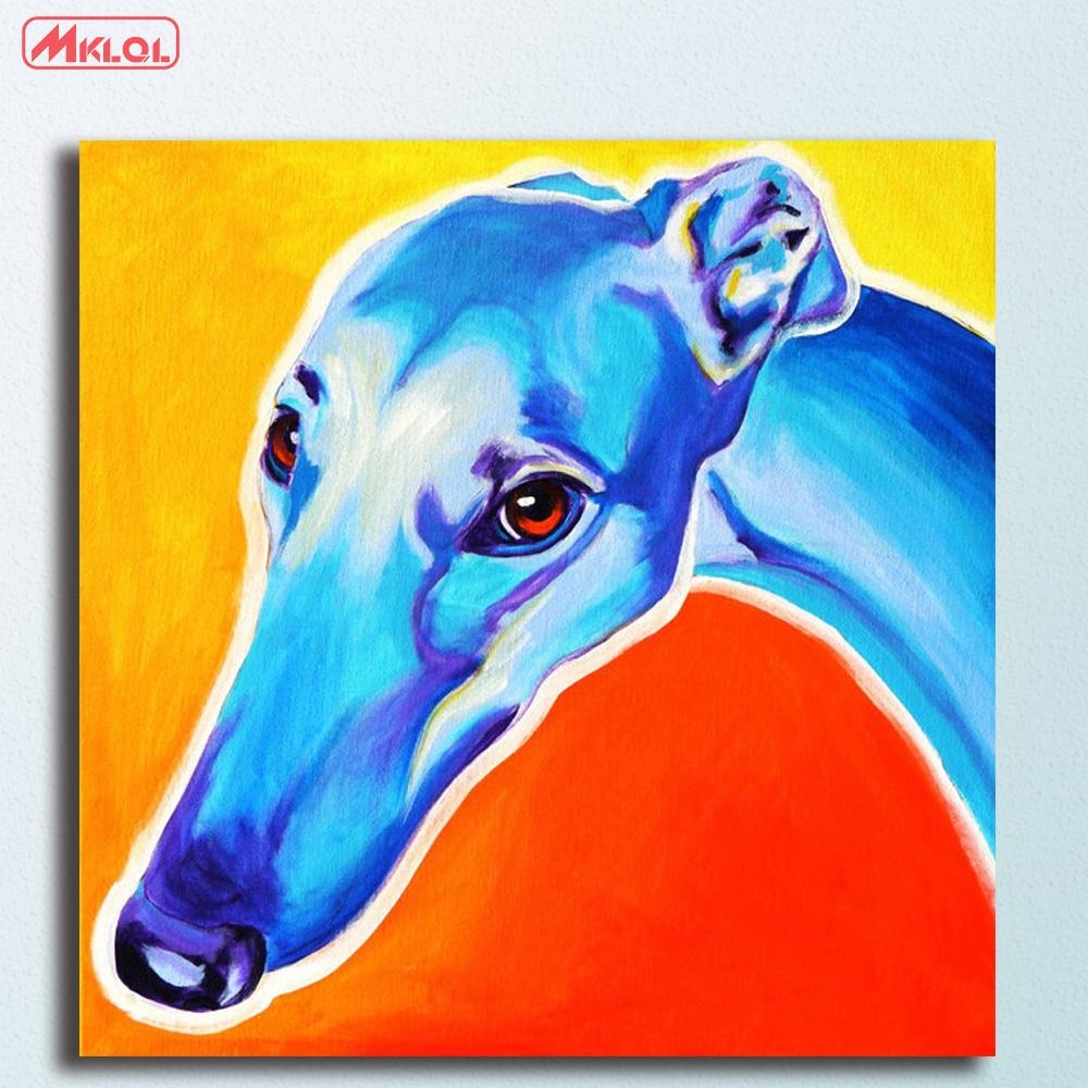 Online Get Cheap Greyhound Canvas  Aliexpress | Alibaba Group In Italian Greyhound Wall Art (Image 19 of 20)