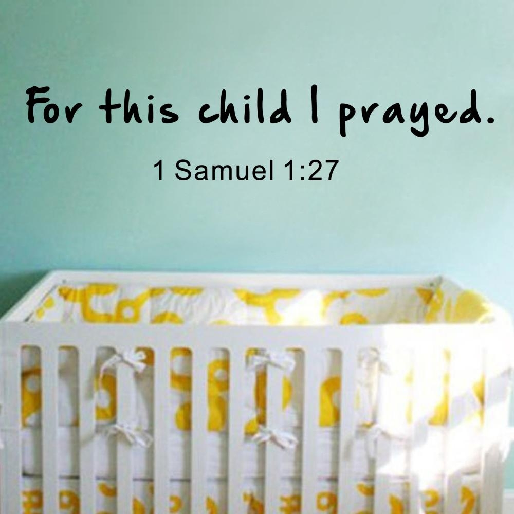 Online Get Cheap Praying For Children Aliexpress | Alibaba Group Intended For For This Child I Prayed Wall Art (View 8 of 20)