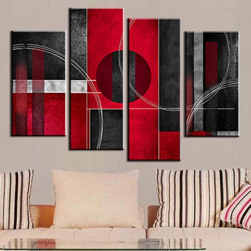 Online Get Cheap Red And Black Wall Art  Aliexpress | Alibaba Intended For Red And Black Canvas Wall Art (Image 15 of 20)