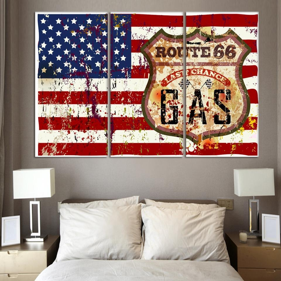 Featured Image of Red White And Blue Wall Art