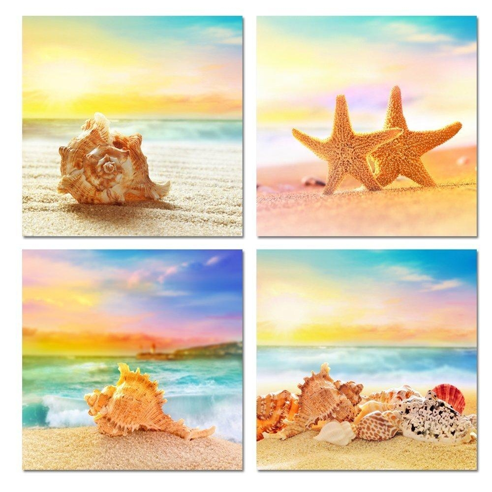 Online Get Cheap Seashell Canvas Wall Art Aliexpress Intended For Seashell Prints Wall Art (View 12 of 20)
