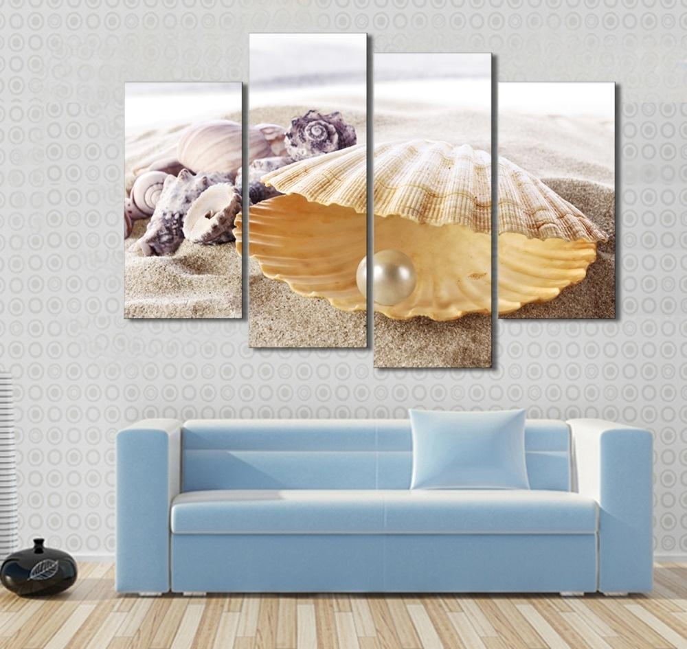 Online Get Cheap Seashell Canvas Wall Art  Aliexpress With Regard To Seashell Prints Wall Art (Image 10 of 20)