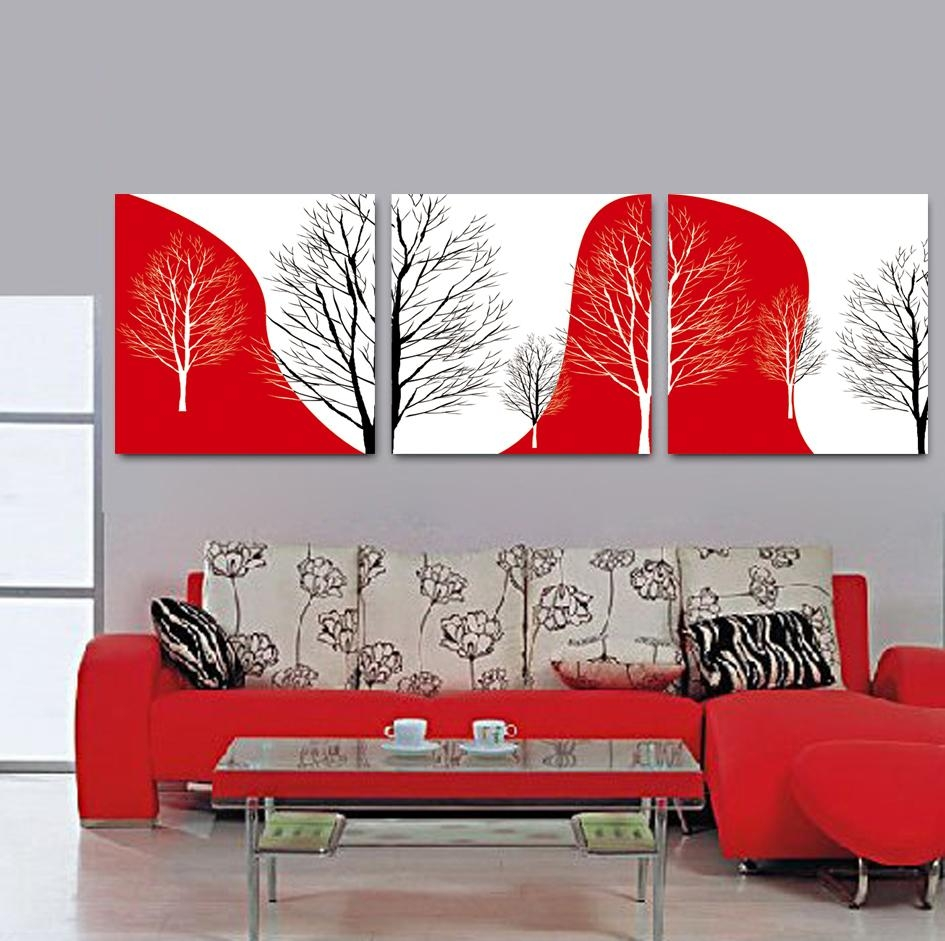 Online Get Cheap Wall Art Canvas Abstract Red  Aliexpress In Red And Black Canvas Wall Art (Image 16 of 20)