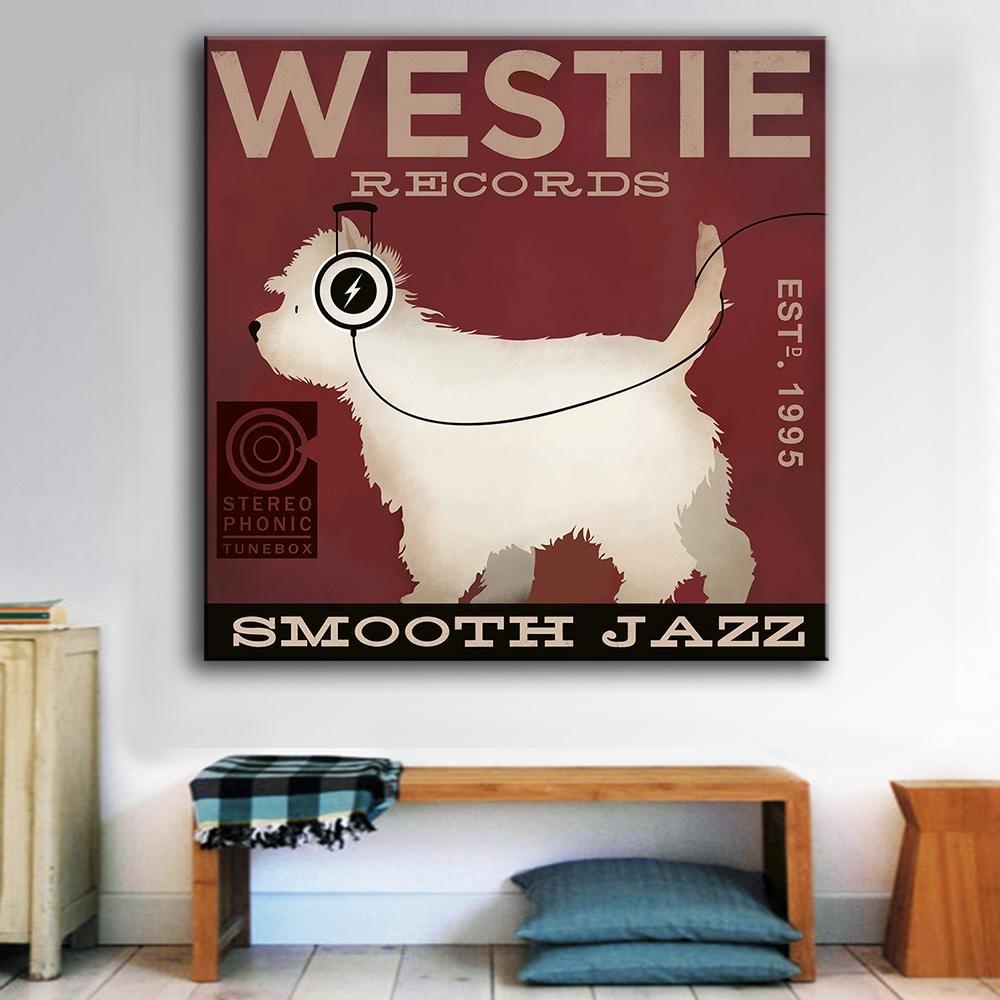 Online Get Cheap Westie Canvas  Aliexpress | Alibaba Group Regarding Westie Wall Art (Image 9 of 20)
