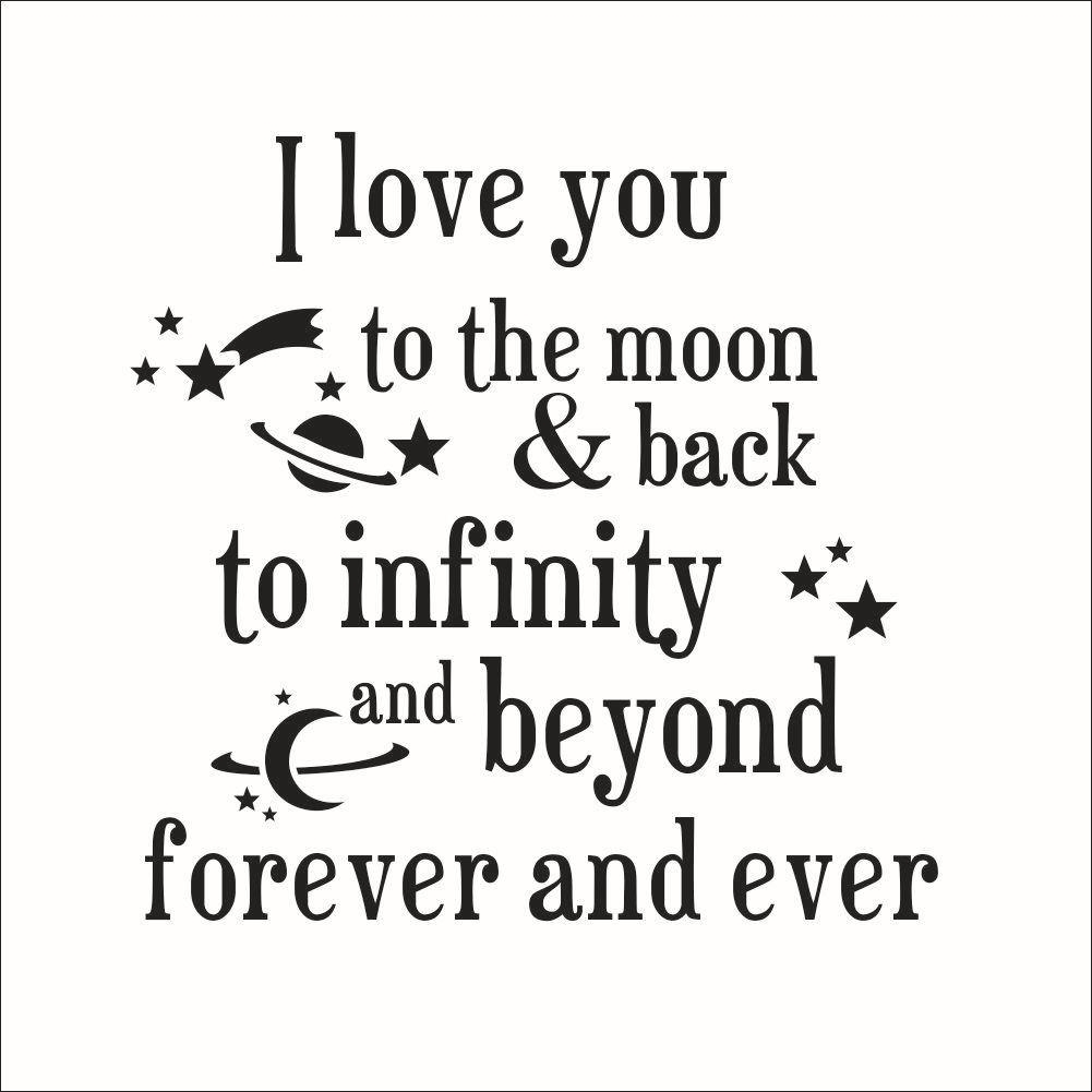 Online Shop 8261 I Love You To The Moon Back Quote Wall Stickers Regarding Love You To The Moon And Back Wall Art (Image 14 of 20)