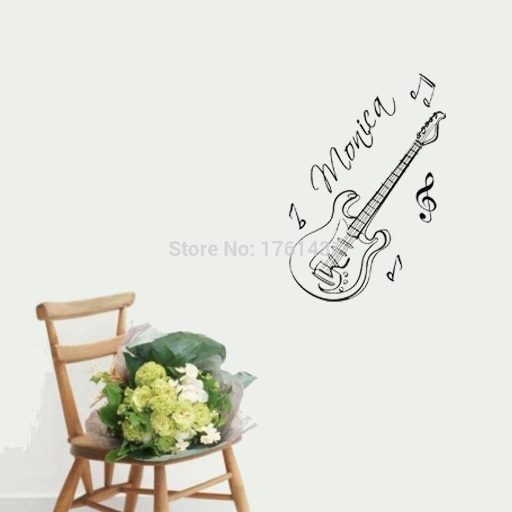 Online Shop Guitar Custom Name Music Wall Art Decals Home With Be Still And Know That I Am God Wall Art (View 19 of 20)