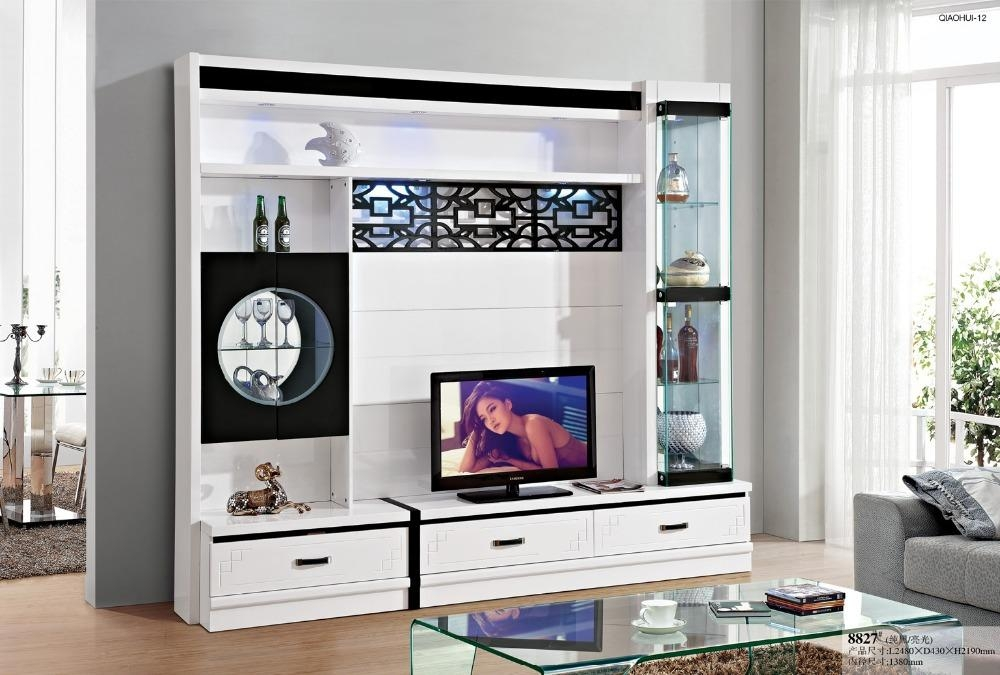 Online Shop Simple Tv Cabinet Glass Shelf White Paint Modern Brief With Most Up To Date Tv Display Cabinets (Image 14 of 20)