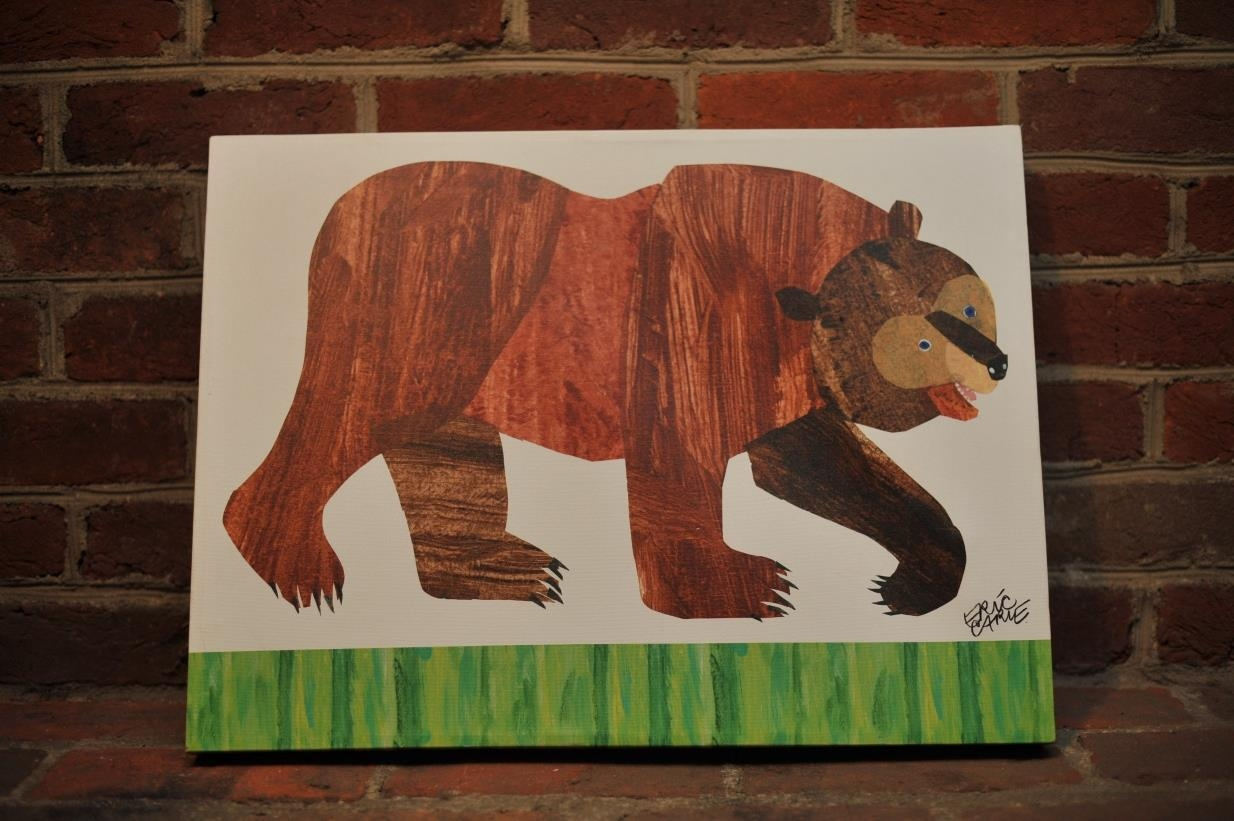 Oopsy Daisy Brown Beareric Carle Canvas Wall Art | What's It Worth In Eric Carle Wall Art (Image 12 of 20)