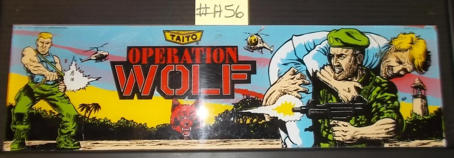 Operation Wolf Arcade Machine Game Overhead Header Marquee #h56 With Arcade Wall Art (Image 7 of 20)