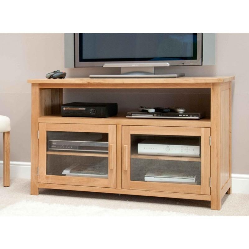 Opus Oak Furniture Entertainment Tv Unit   Furniture4Yourhome With Regard To 2017 Oak Tv Cabinets With Doors (Image 15 of 20)