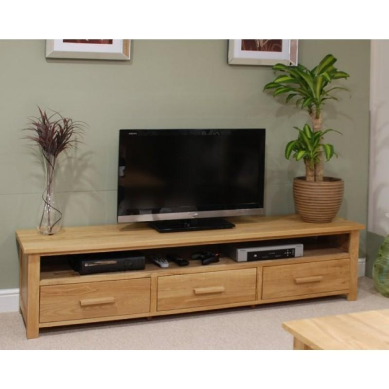 Opus Oak Furniture Wide Plasma Tv Unit | Furniture4Yourhome With Regard To Most Current Wide Oak Tv Unit (Image 19 of 20)