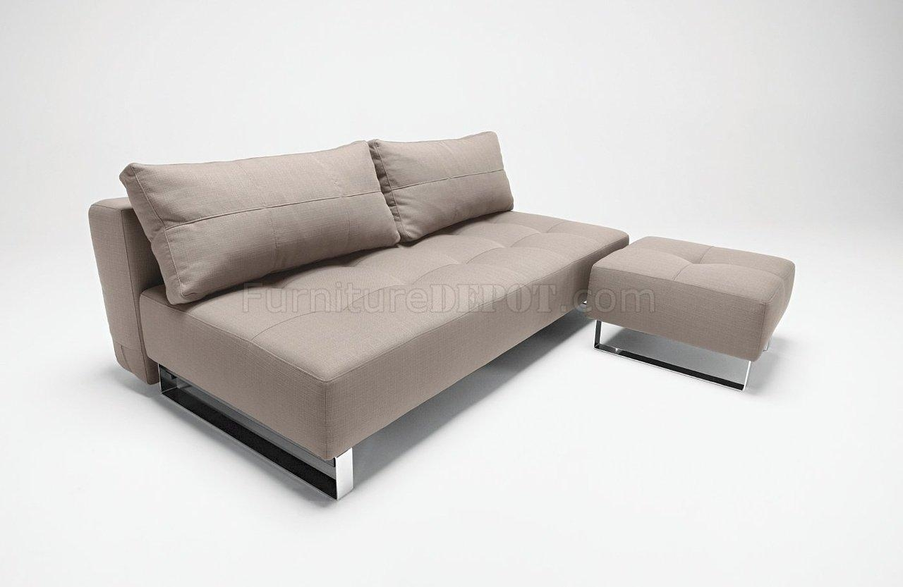 Or Grey Fabric Modern Sofa Bed Lounger From Innovation Within Sofa Lounger Beds (Image 17 of 20)