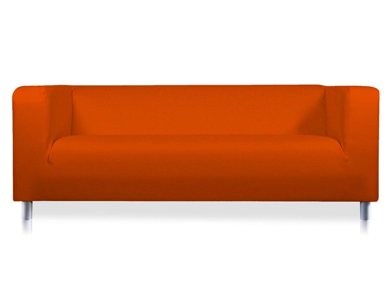 Orange Verano Leather Look Cover For The Ikea Klippan 2 Seat Sofa Within Orange Ikea Sofas (View 10 of 20)