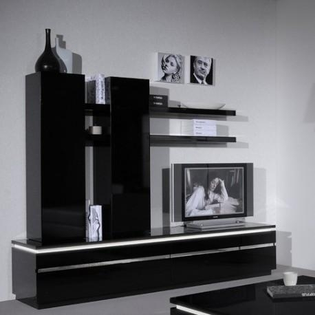 Orde Black Gloss Tv Stand – Tv Stands – Sena Home Furniture Regarding Recent Black Gloss Tv Bench (View 8 of 20)