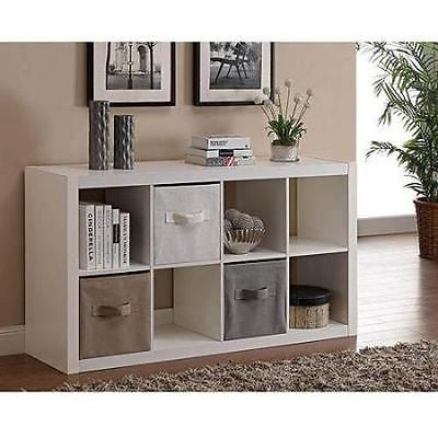 Organizer 8 Cube Storage Book Shelves Eight Square Tv Stand Toy Pertaining To Recent Tv Stands With Storage Baskets (Image 13 of 20)
