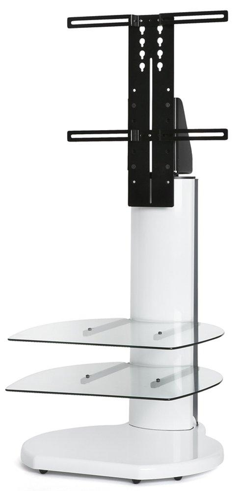 Origin Ii S4 White Cantilever Tv Stand For Most Current Tv Stand Cantilever (Image 10 of 20)