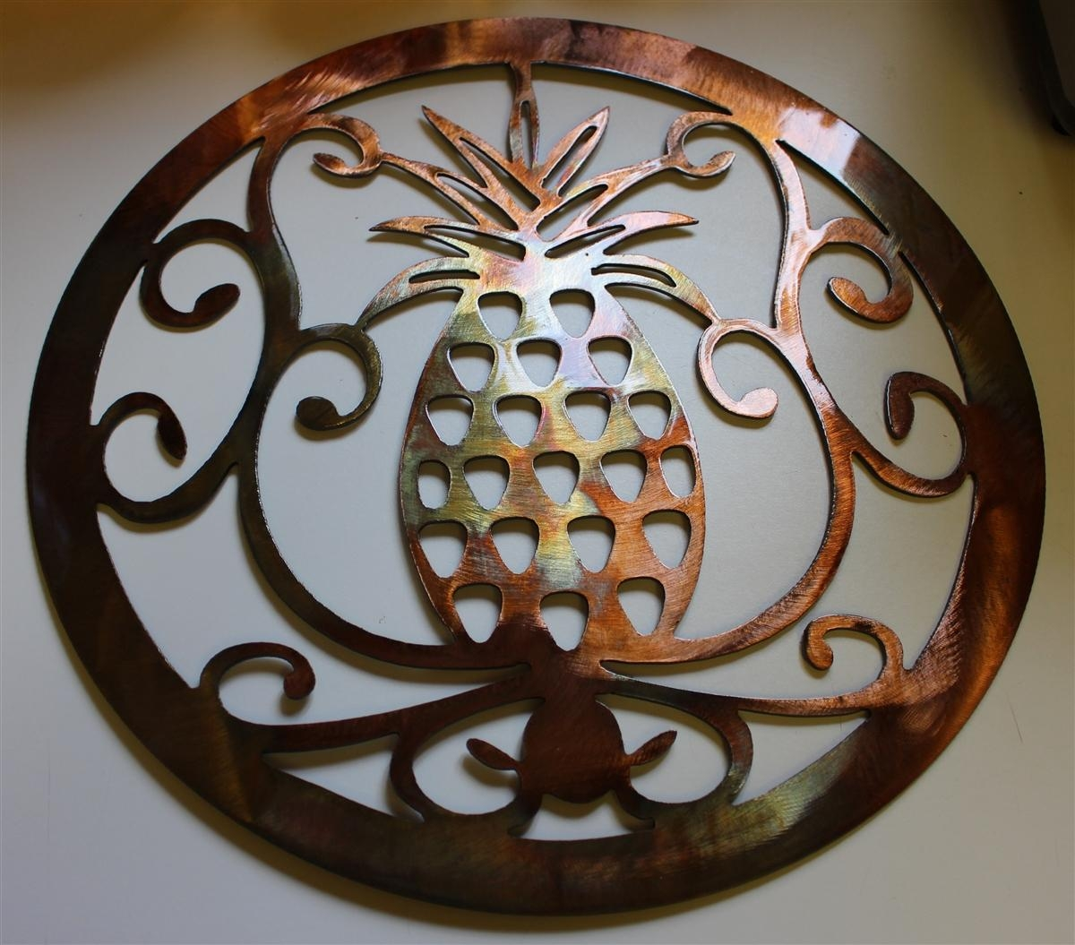 "Ornamental Pineapple 15"" Metal Wall Art Within Pineapple Metal Wall Art (View 2 of 20)"