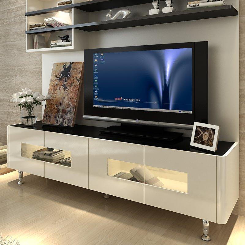 Orren Ellis Dian Modern Entertainment Center & Reviews | Wayfair Pertaining To Newest Modern Tv Entertainment Centers (Image 17 of 20)