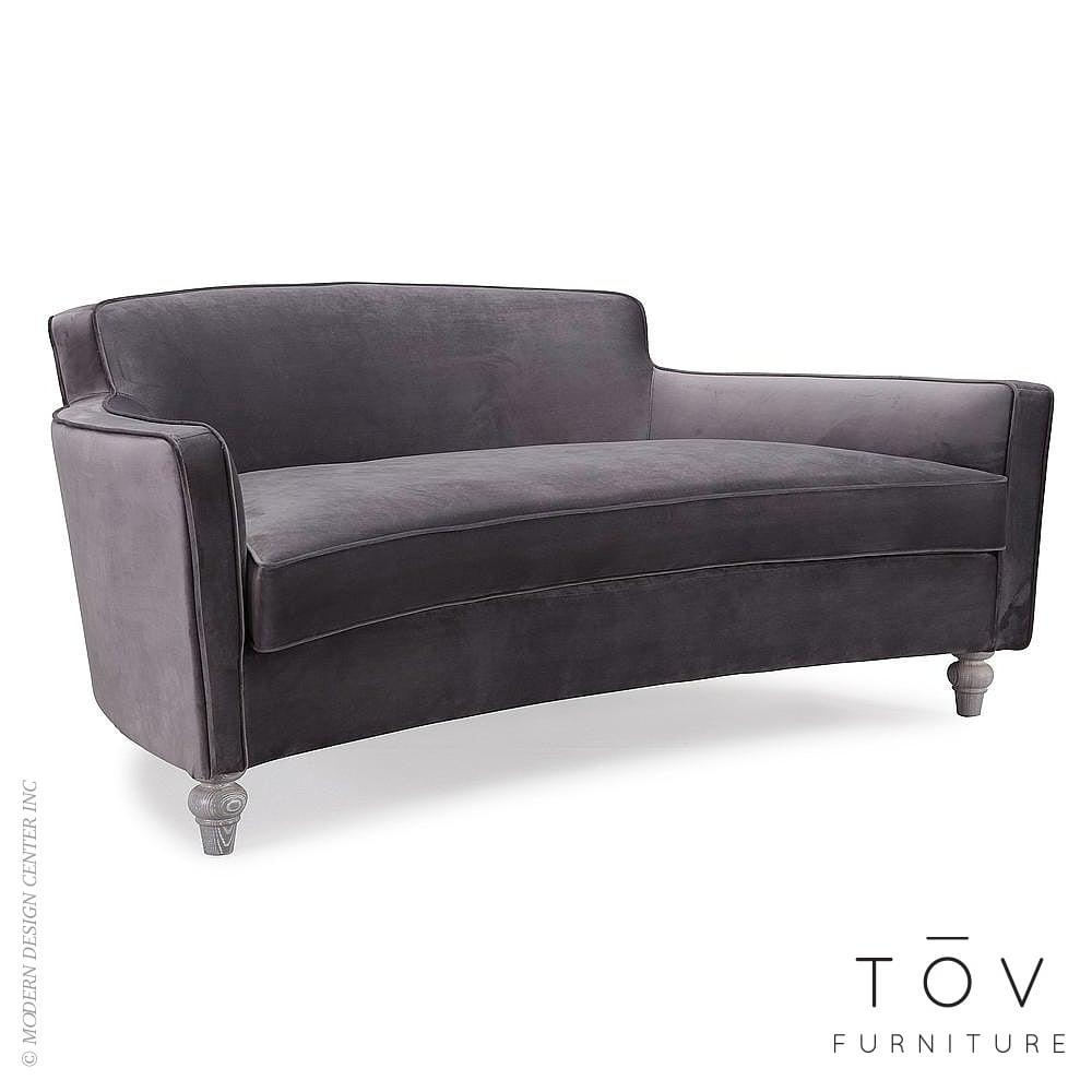 Oslo Grey Velvet Sofatov | Interiordesignerdecor Throughout Black Velvet Sofas (Image 12 of 20)