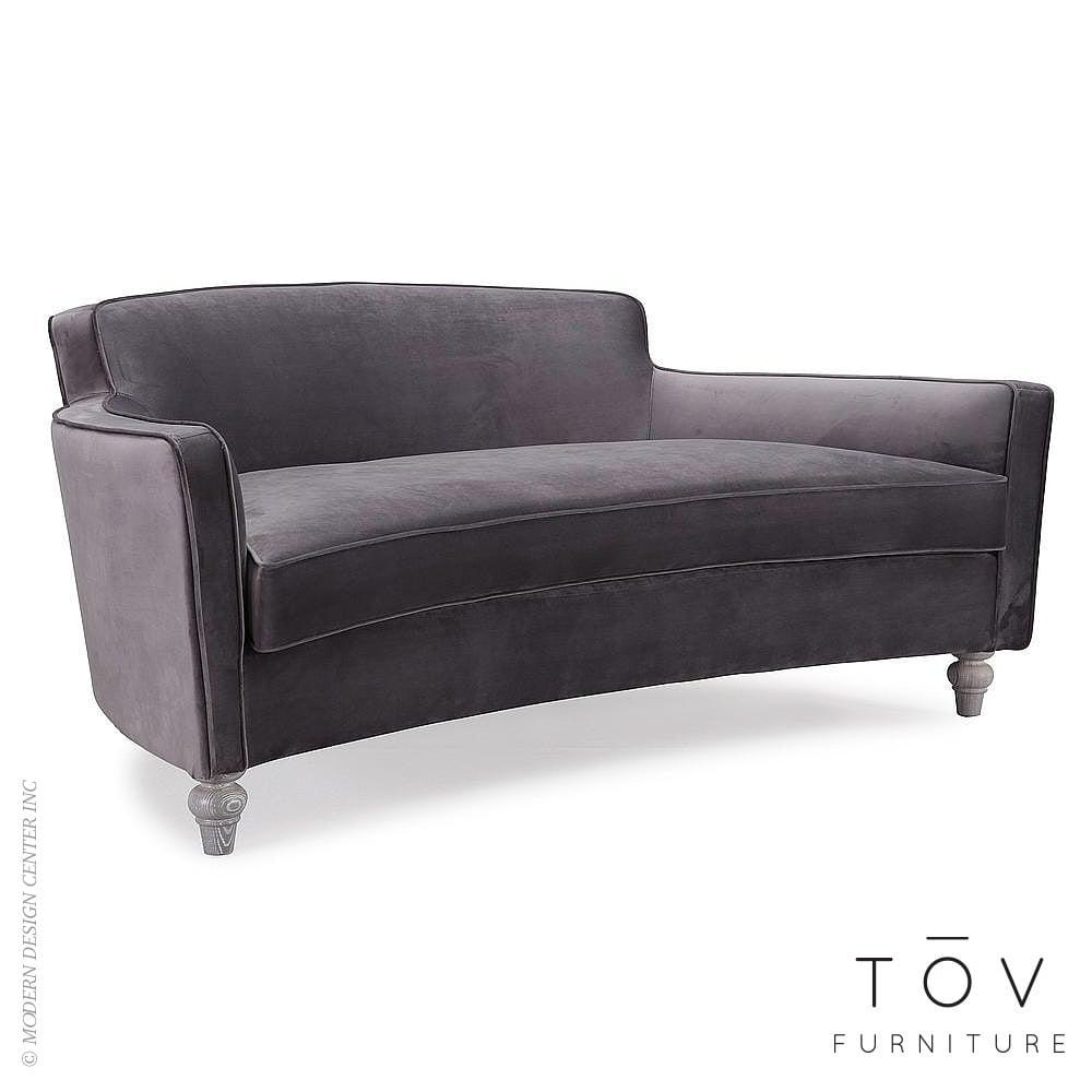 Oslo Grey Velvet Sofatov | Interiordesignerdecor Throughout Black Velvet Sofas (Image 12 of 20)