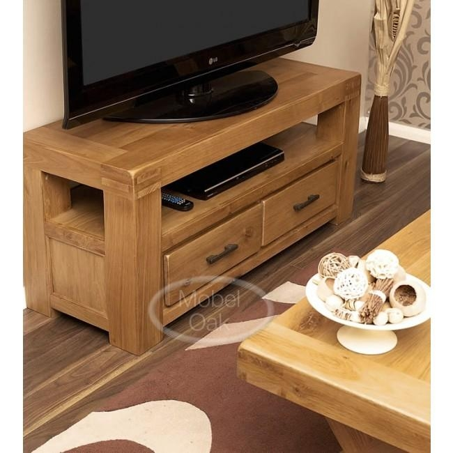 Oslo Rustic Oak Tv Stand Cabinet | Best Price Guarantee Within Recent Tv Stands In Oak (Image 13 of 20)