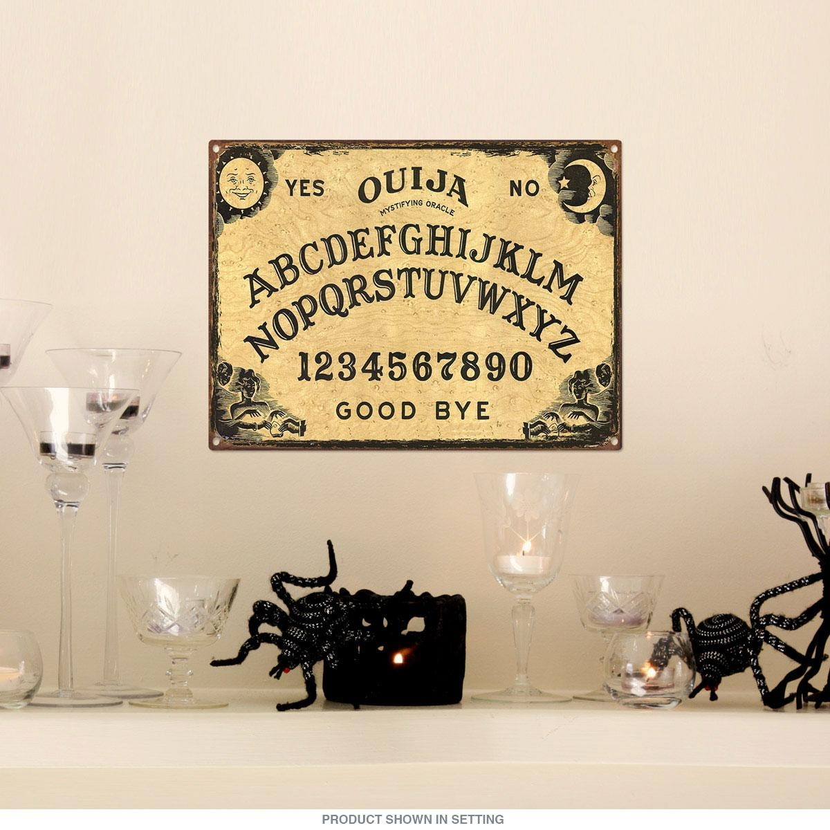Ouija Board Fortune Telling Game Metal Sign | Game Room Decor For Ouija Board Wall Art (Image 8 of 20)