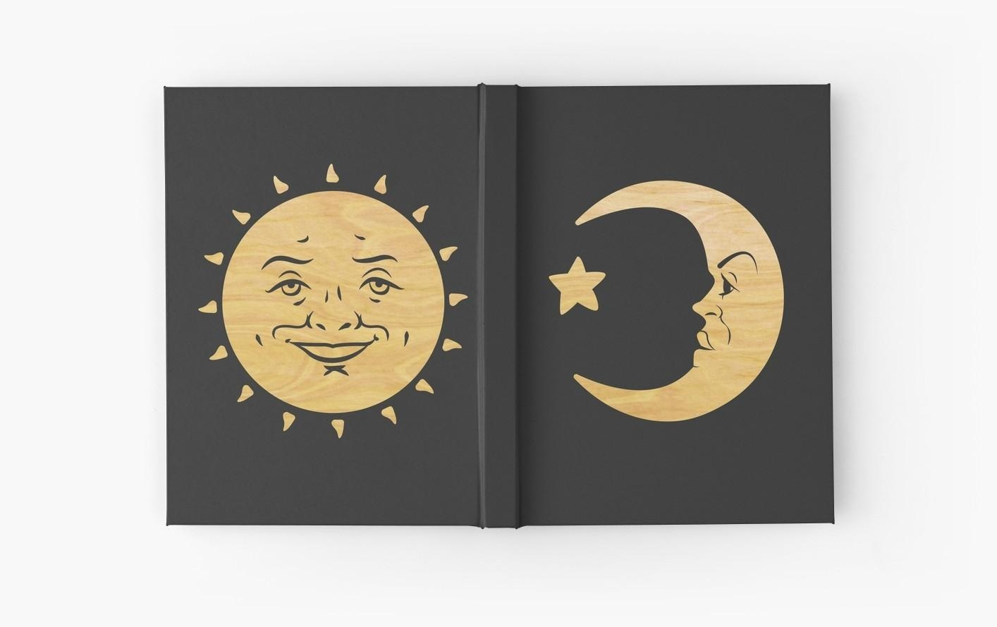 "Ouija Board | Sun And Moon | Wood"" Hardcover Journalsleonadi Within Ouija Board Wall Art (Image 6 of 20)"