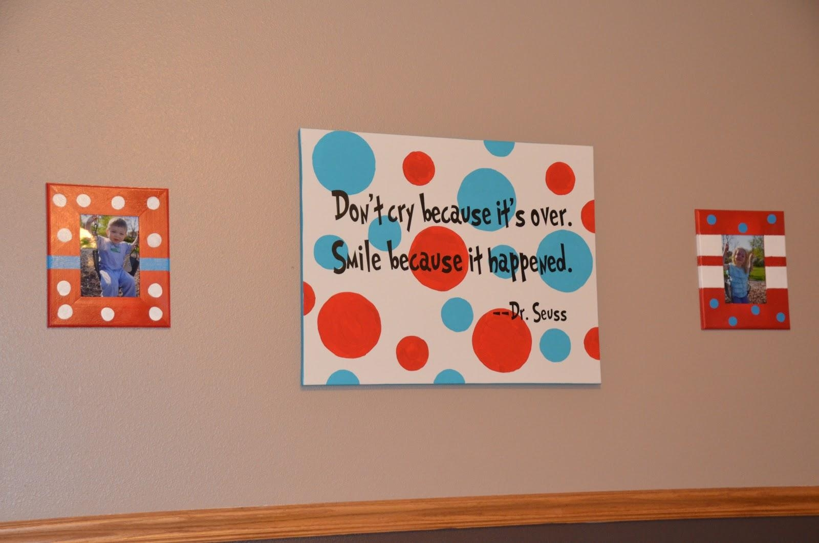 Our Crazy Crafty Life: Dr Seuss Playroom With Regard To Dr Seuss Canvas Wall Art (View 9 of 20)