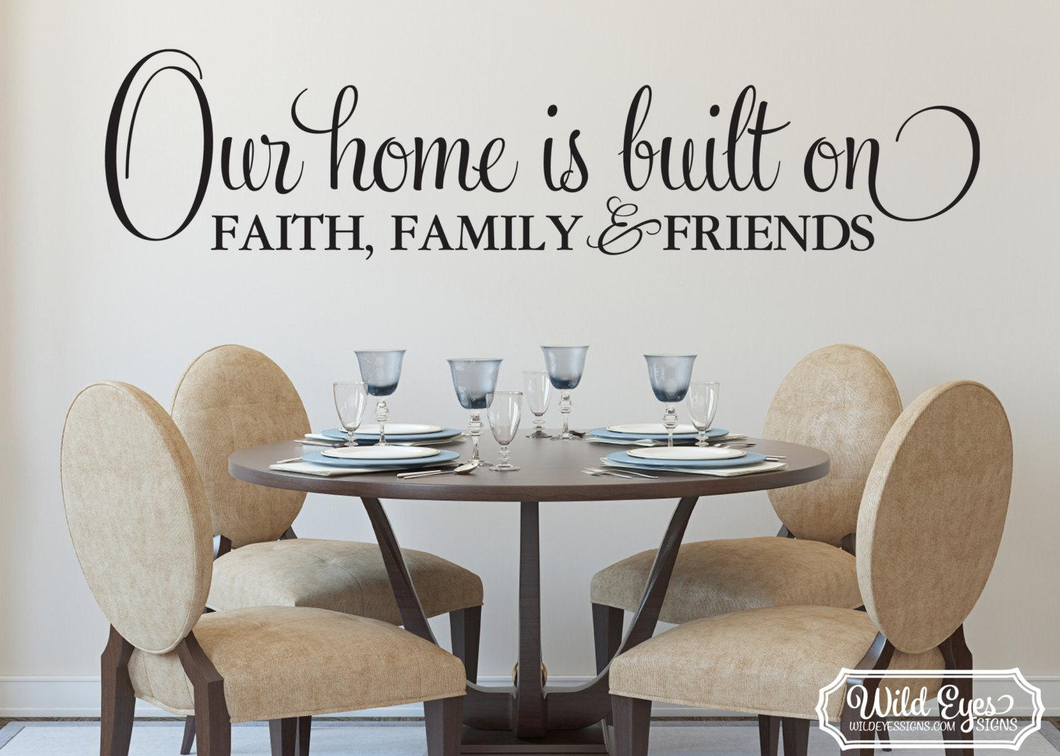 Featured Image of Faith Family Friends Wall Art