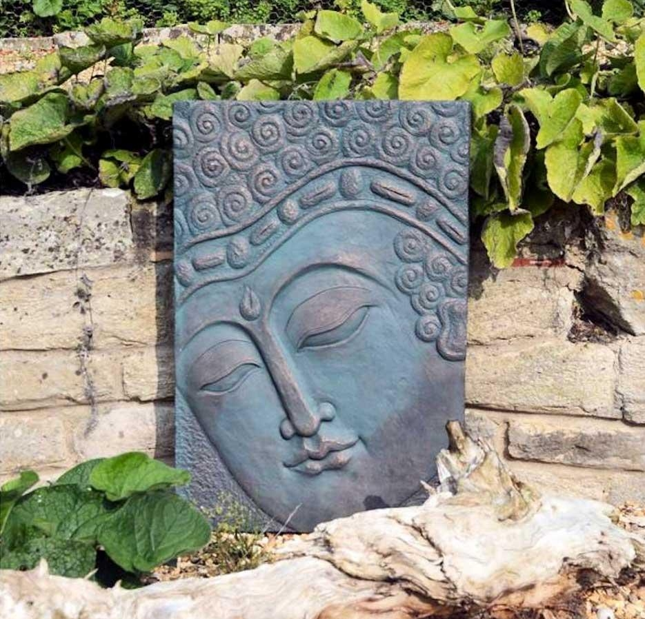 Outdoor Buddha Wall Art Made In Polystone | Home Interior & Exterior Intended For Outdoor Buddha Wall Art (View 6 of 20)