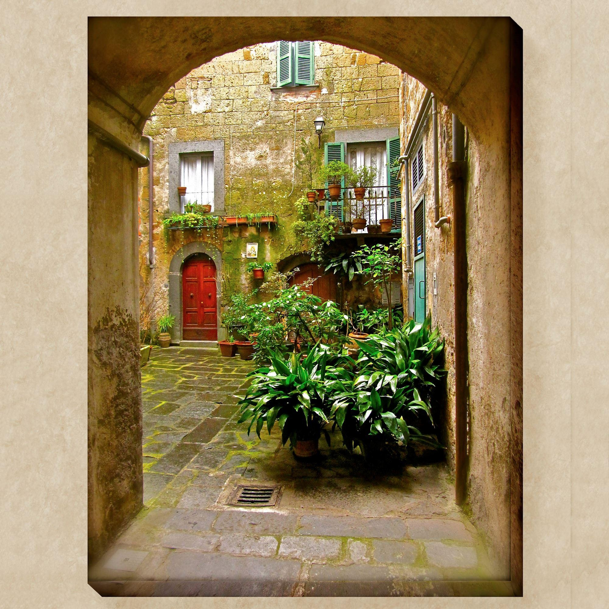 Outdoor Canvas Wall Art | Touch Of Class In Italian Outdoor Wall Art (Image 9 of 20)