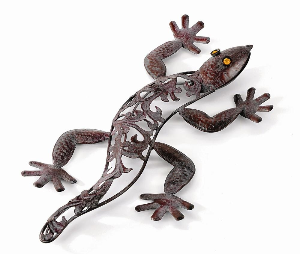 Outdoor Metal Lizard Garden Wall Art (H42Cm) £ (View 12 of 20)