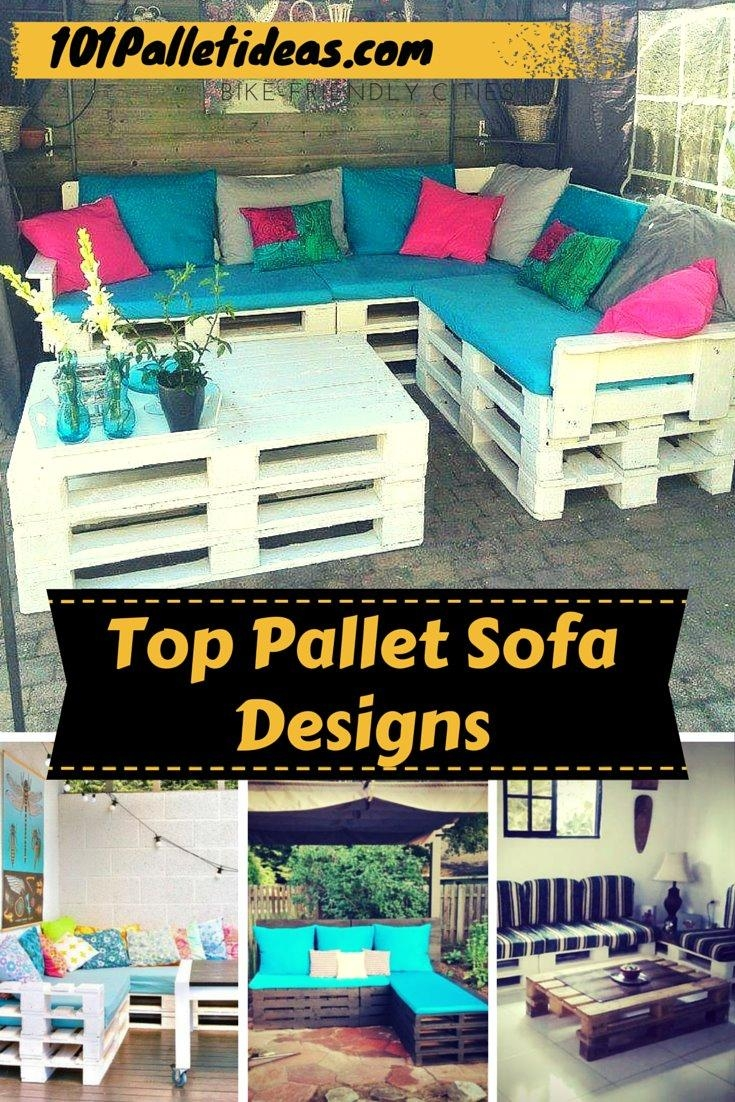 Outdoor Pallet Sofa With Lights – Diy Regarding Sofas With Lights (View 18 of 21)