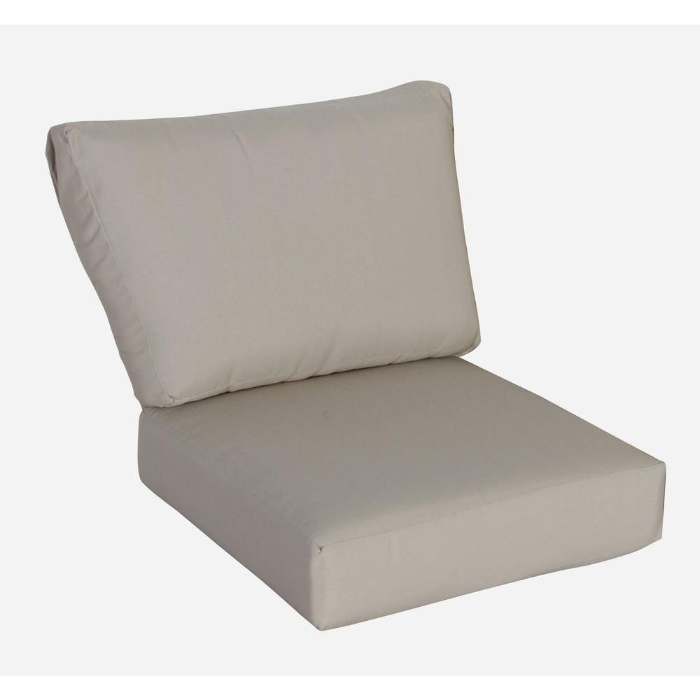 Outdoor Sofa Cushions – Sofa & Loveseat Cushions – The Home Depot Throughout Sofa Cushions (View 10 of 21)